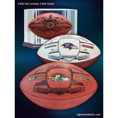 Ravens Super Bowl XLVII Champions Deluxe Three Ball Set