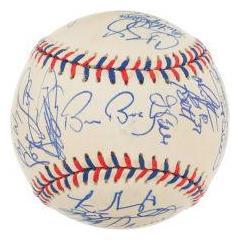 1999 NL All Star Team Signed Baseball