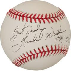 Hershel Walker Signed & Inscribed Baseball