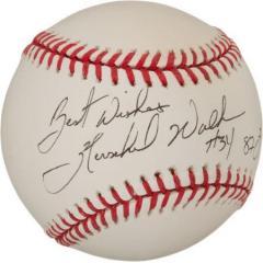 Hershel Walker Signed & Inscribed Baseball