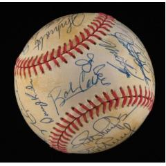 1993 NL All Star Team Signed Baseball