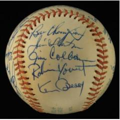 1974 Milwaukee Brewers Team Signed Baseball