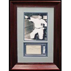 Casey Stengel Framed Photo & Autograph
