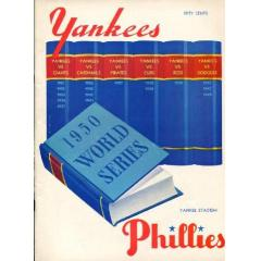 1950 World Series Program - Yankees v Phillies
