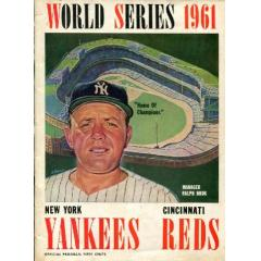 1961 World Series Program - Yankees v Reds