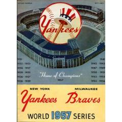 1957 World Series Program - Yankees v Braves