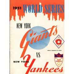 1951 World Series Program - Yankees v NY Giants