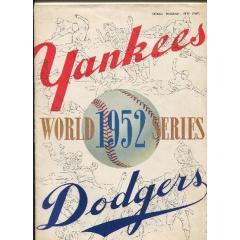 1952 World Series Program - Yankees v Dodgers