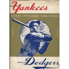 1953 World Series Program - Yankees v Dodgers