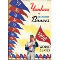 1958 World Series Program - Yankees v Braves