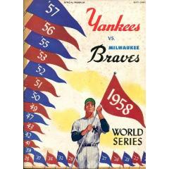 1958 World Series Program - Yankees v Braves