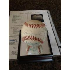 1975 Texas Rangers Team Signed Baseball with Billy Martin
