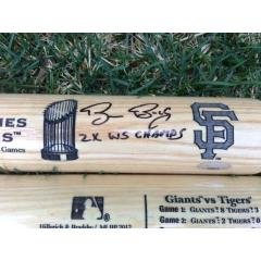 Bruce Bochy Signed & Inscribed 2012 World Series Bat
