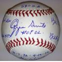 Ozzie Smith Autographed Ball with Career Stats
