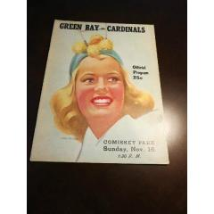 1947 Packers v Cardinals Game Program