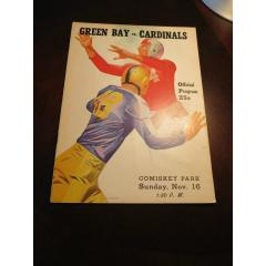 1947 Cardinals v Packers Game Program
