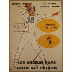 1955 Packers v Rams Game Program
