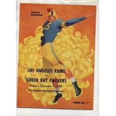 1952 Packers v Rams Game Program