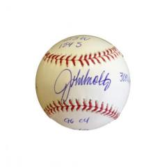 John Smoltz Autographed Stats Ball