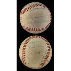 1977 Hall of Fame Ceremony Signed Baseball