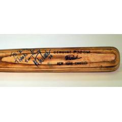 Jorge Posada Signed & Inscribed Game Used Bat