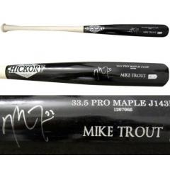 Mike Trout Autographed Bat