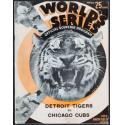 1935 Tigers v Cubs World Series Program
