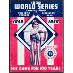 1939 World Series Program - 100th Anniversary of Baseball