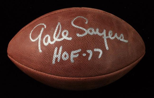 a14da4e0cbe Gale Sayers Autographed Football - BigTimeFootballs.com
