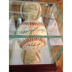19 Managers Signed Ball from Warren Spahn's Collection