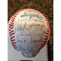 1991 Red Sox Team Signed Baseball