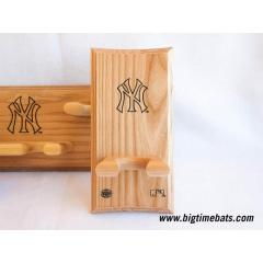 Yankees Logo Engraved Bat Rack