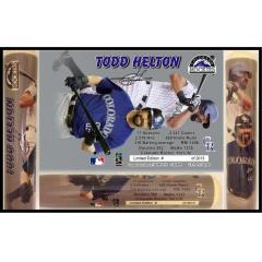 Todd Helton Career Tribute Bat