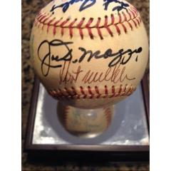 Warren Spahn Collection Ball - 18 Signatures including Joe DiMaggio