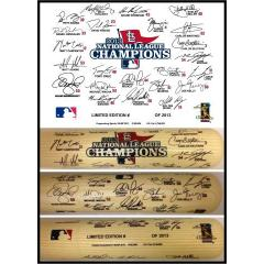 2013 Cardinals Team Signature Bat
