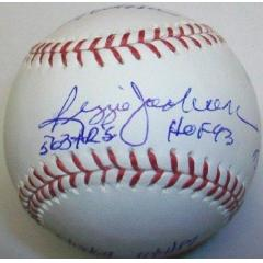 Reggie Jackson Signed Stat Ball