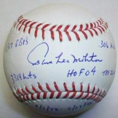 Paul Molitor Signed Stat Ball