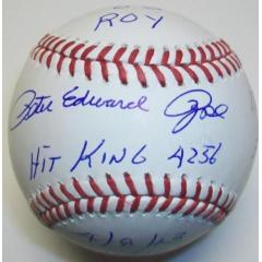 Pete Rose Autographed Stat Ball