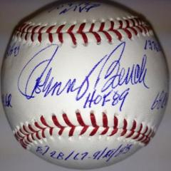 Johnny Bench Signed Stat Ball