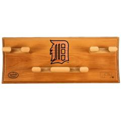 Detroit Tigers Logo Custom 4 Bat Rack
