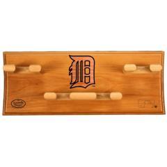 Detroit Tigers Logo Custom 4 Bat Rack