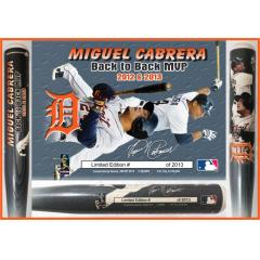 Miguel Cabrera Back-to-Back AL MVP Photo Bat