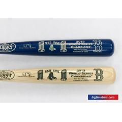 Pedroia and Lester Autographed Bats