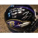 Ray Lewis Signed & Inscribed Authentic Ravens Helmet