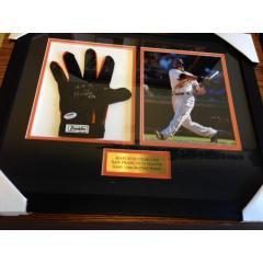 Marco Scutaro Game Used Batting Glove Framed Presentation