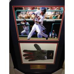 Brian McCann Game Used Batting Glove Framed Presentation