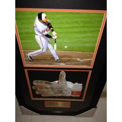Manny Machado Game Used Batting Glove Framed Presentation