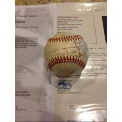 Old Timers Signed Ball from Warren Spahn's Personal Collection