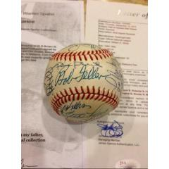 30 Signatures - Great Ball from Warren Spahn's Own Collection