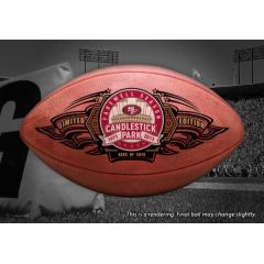 Official Candlestick Park Farewell Season Commemorative Football